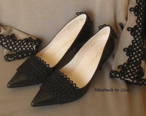 Frivolité kengät