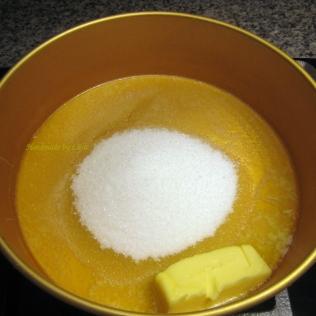 Voi ja sokeri kaasuliedellä