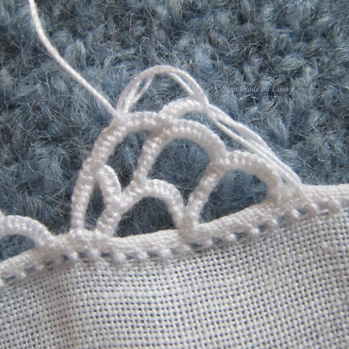 Tutorial for easy needle lace, ohjeet helppoon ommeltuun pitsiin