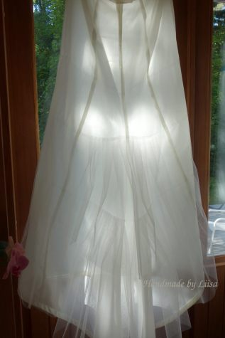 The four back panels of the petticoat
