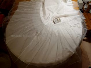 Tulle pinned on